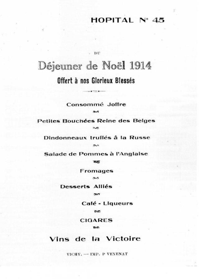 LES HÔPITAUX MILITAIRES A VICHY PERIODE 1914 / 1918 Img48310