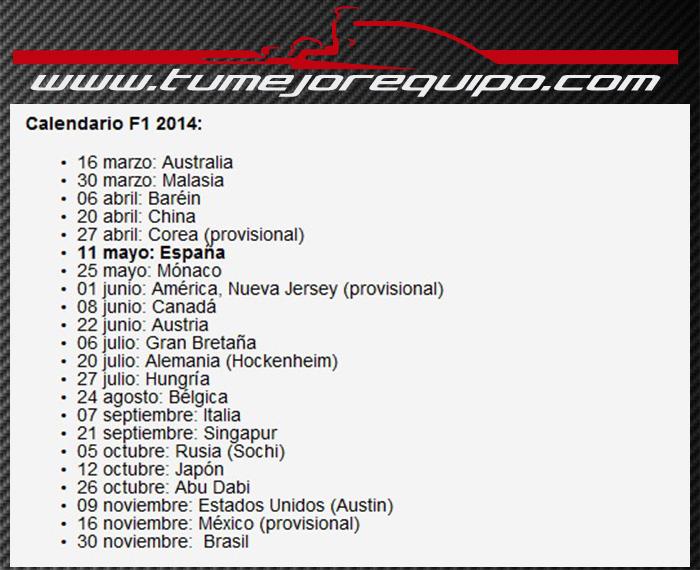 El Mundial de 2014 tendrá 22 Carreras Cald10