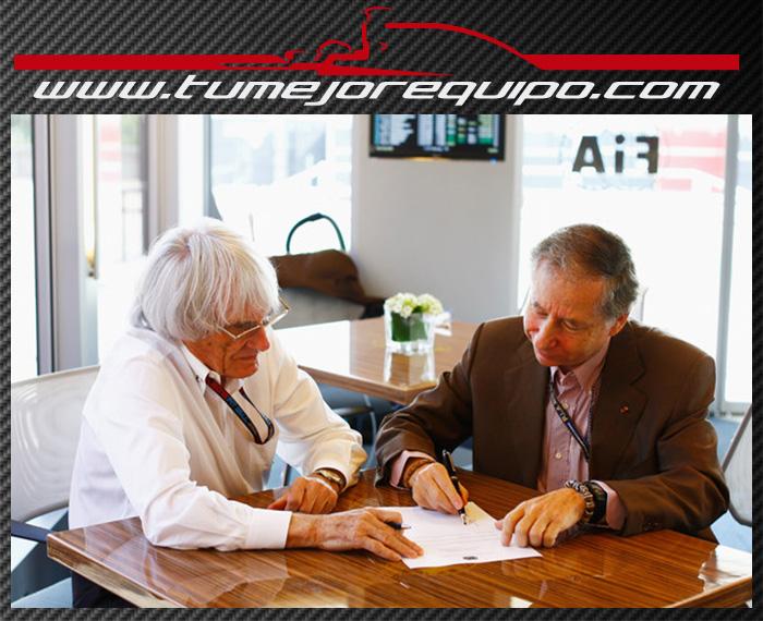 La FIA y la FOM firman el nuevo Pacto de la Concordia  Jeanto10