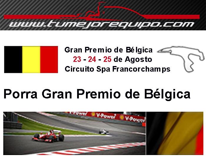 G.P de Bélgica - Previo Porra10