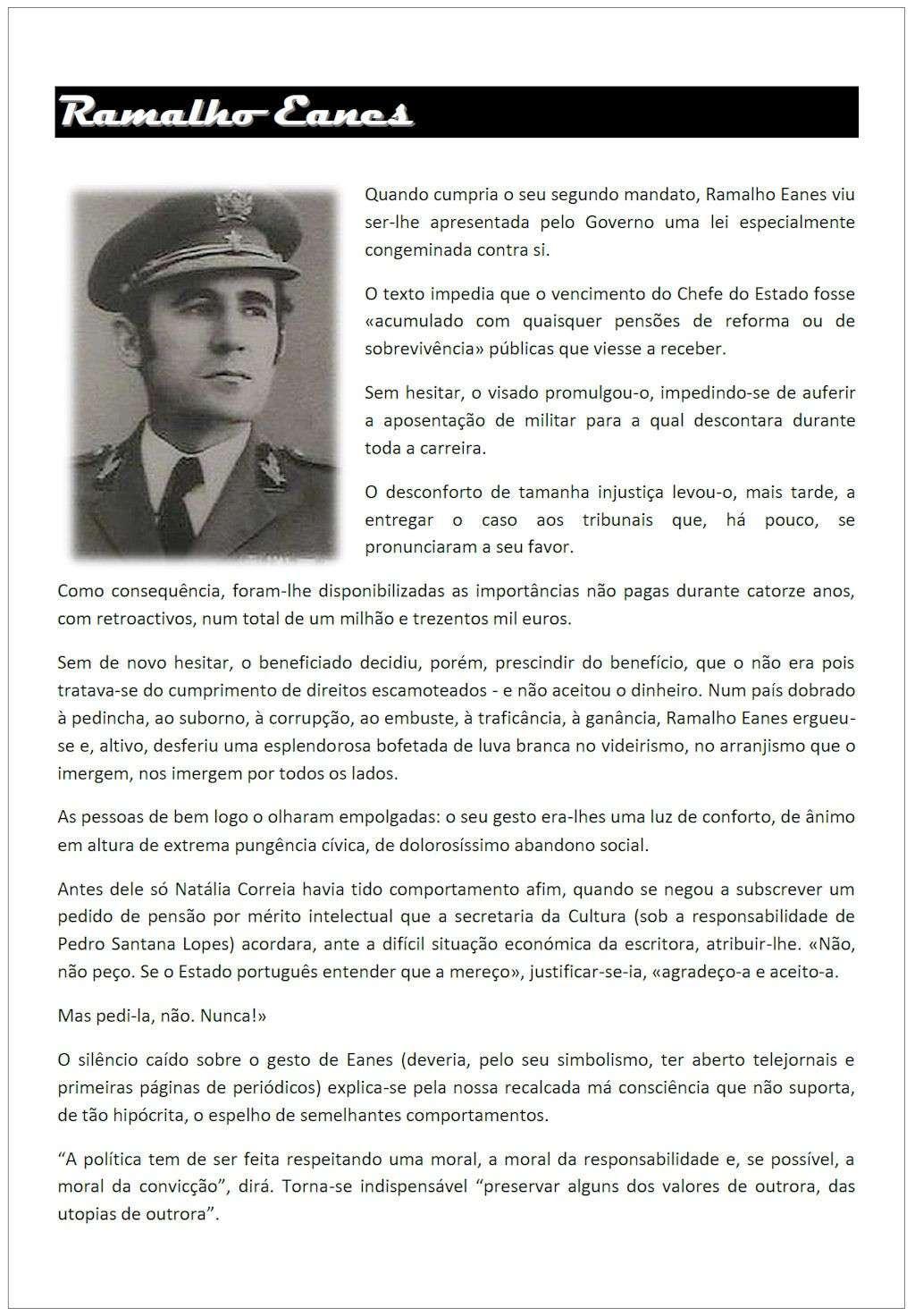 Gen Ramalho Eanes: «... devemos prestar os nossos agradecimentos a este grande senhor ...» Genram10