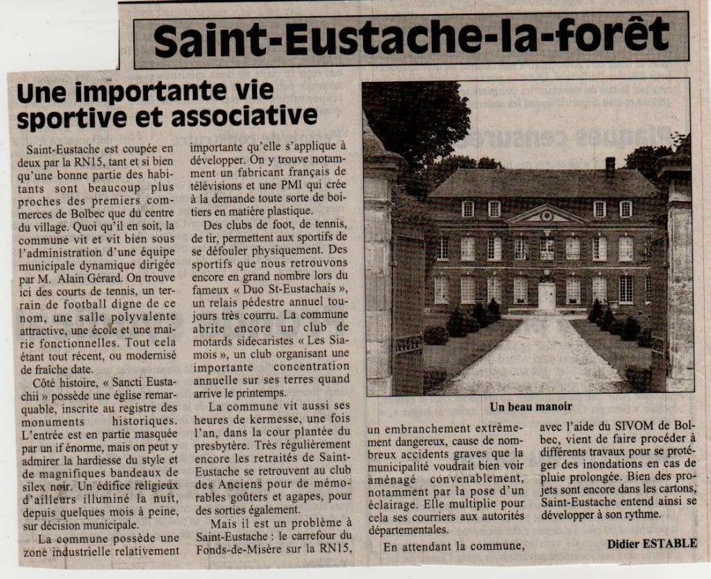 Histoire des communes - Saint-Eustache-la-Forêt Saint-10