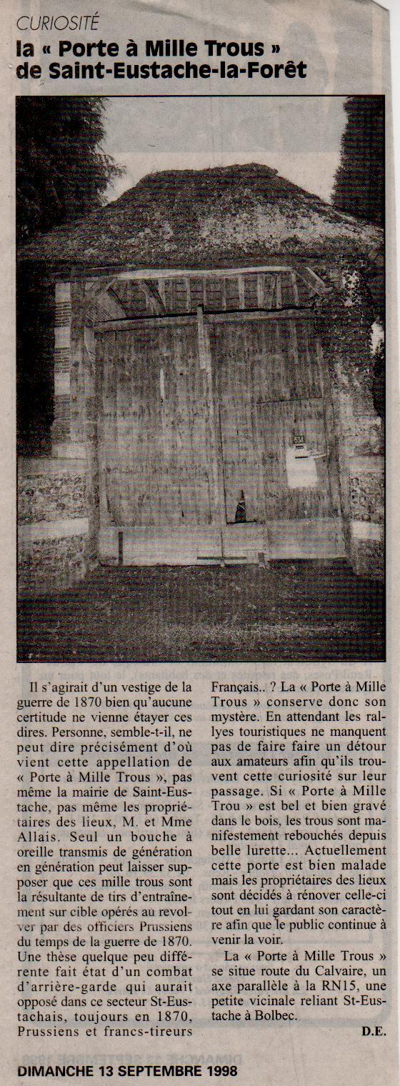 Histoire des communes - Saint-Eustache-la-Forêt Saint-13