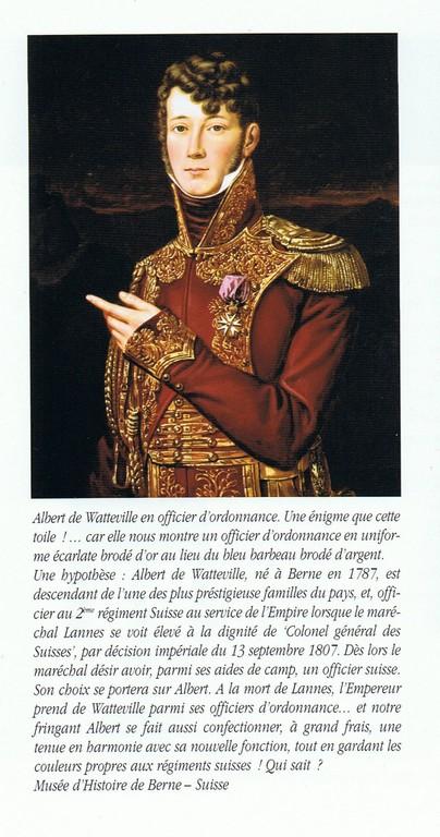 Albert de Watteville - officier d'ordonnace suisse de l'Empereur - Atelier Maket 75mm Ccf14110