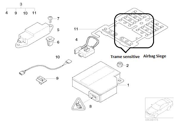 bmw e46 320cd an 2003 voyant airbag r solu. Black Bedroom Furniture Sets. Home Design Ideas
