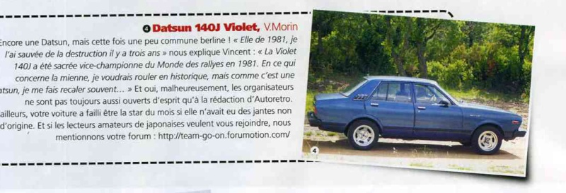 Topic officiel DATSUN VIOLET 140J & 160JSSS type LA10/PA10  - Page 3 Zdu_mo11