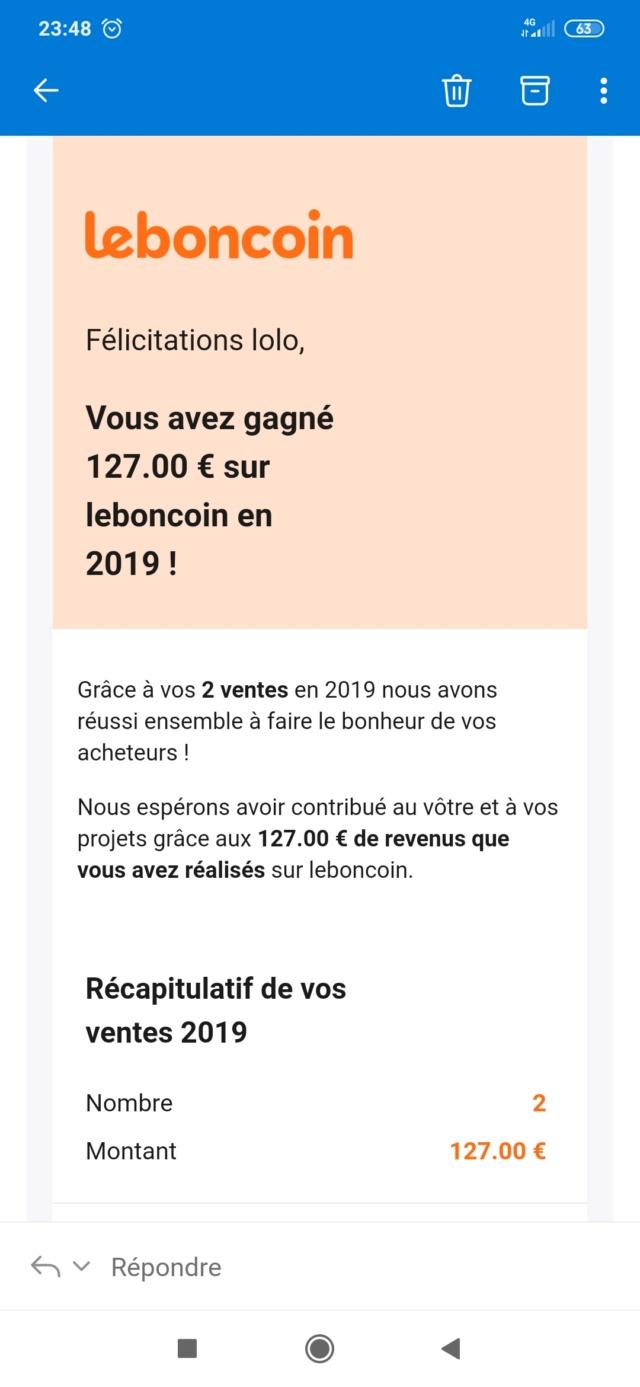 Leboncoin et les déclarations de revenus... A savoir ! Screen13