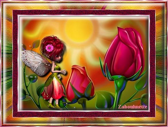 Tableaux avec Photofiltre de Zabouh Roses_10