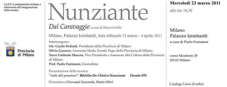 """2011 MOSTRA """"DAL CARAVAGGIO"""" a MILANO Invito12"""