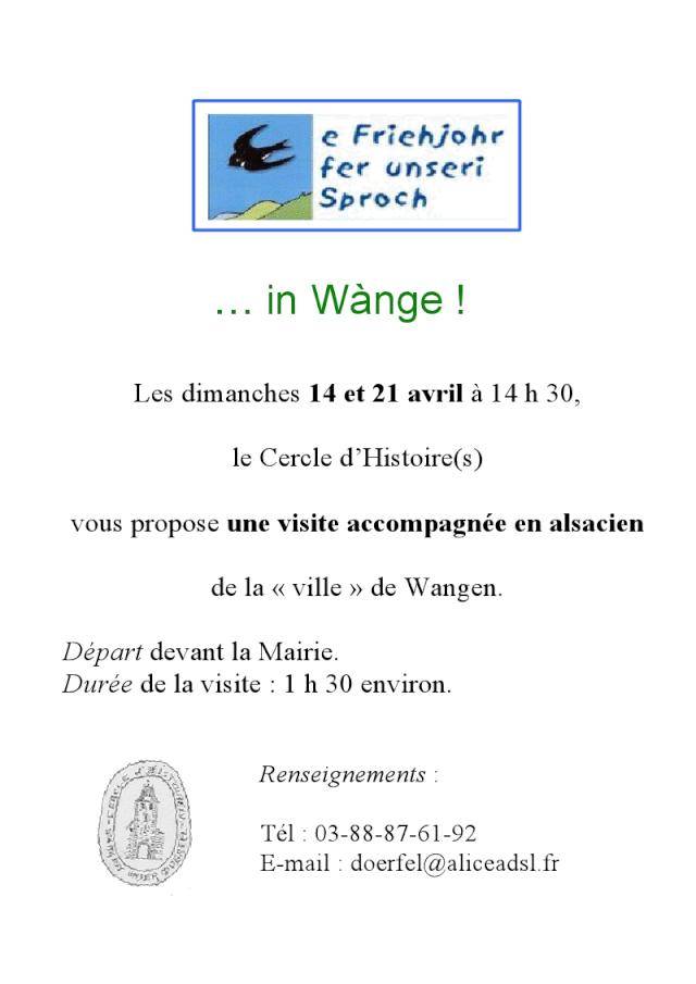 """Visite accompagnée en alsacien de la """"ville"""" de Wangen les 14 et 21 avril 2013 Viewer13"""