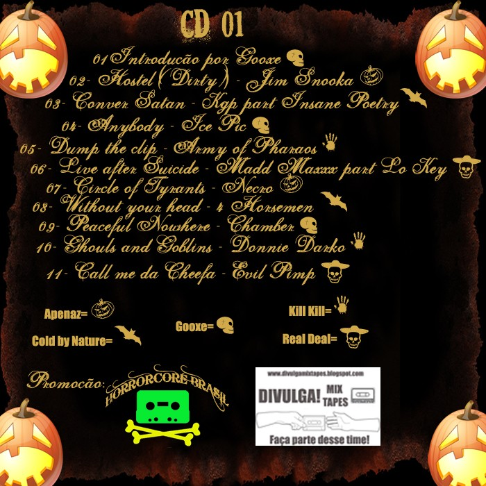 Contracapas oficiais da mix Halloween(tracklist) Pronta10