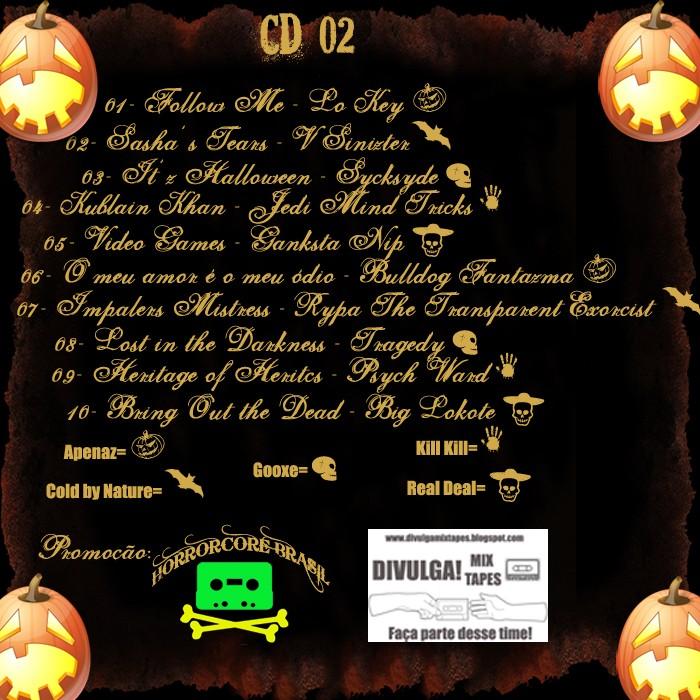 Contracapas oficiais da mix Halloween(tracklist) Pronta11