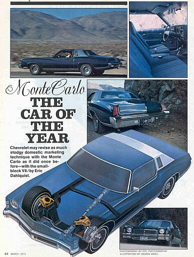 MOTOR TREND CAR OF THE YEAR-------1973 MONTE CARLO Show110