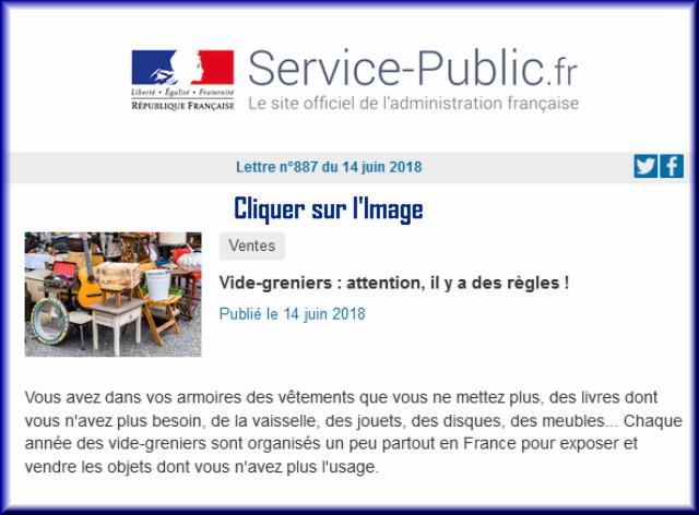 """La lettre N° 887 de """"Service Public"""" pour le 14 Juin 2018 88710"""