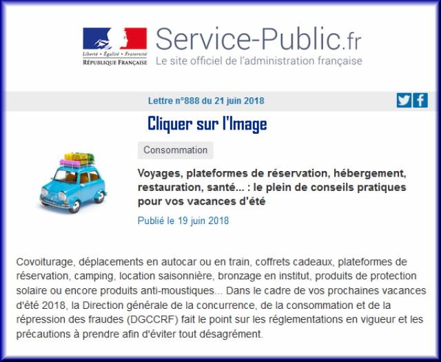 """La lettre N° 888 de """"Service Public"""" pour le 21 Juin 2018 88810"""