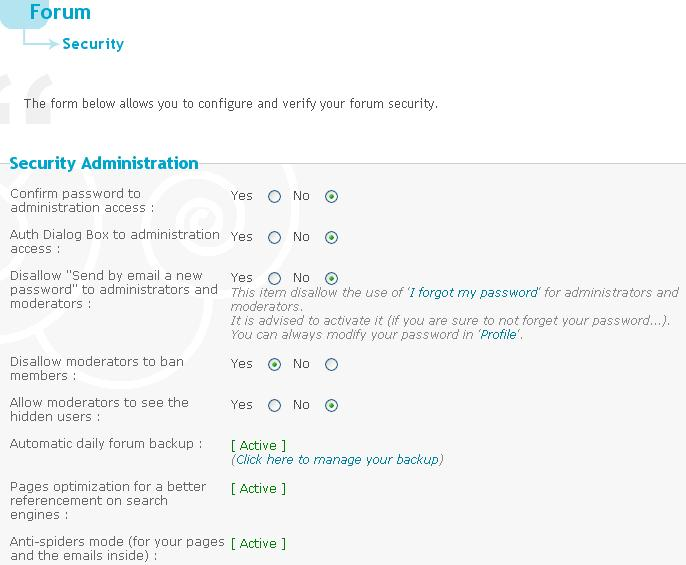Run through of the admin panel Securi10