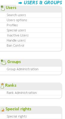 Run through of the admin panel Usersa10
