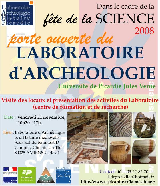 Porte ouverte du Laboratoire d'archéologie Portes11