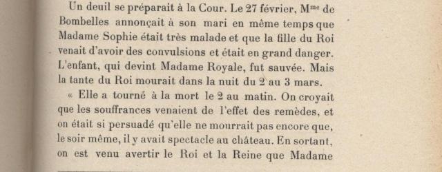 Sophie de France, dite Madame Sophie, tante de Louis XVI 1110