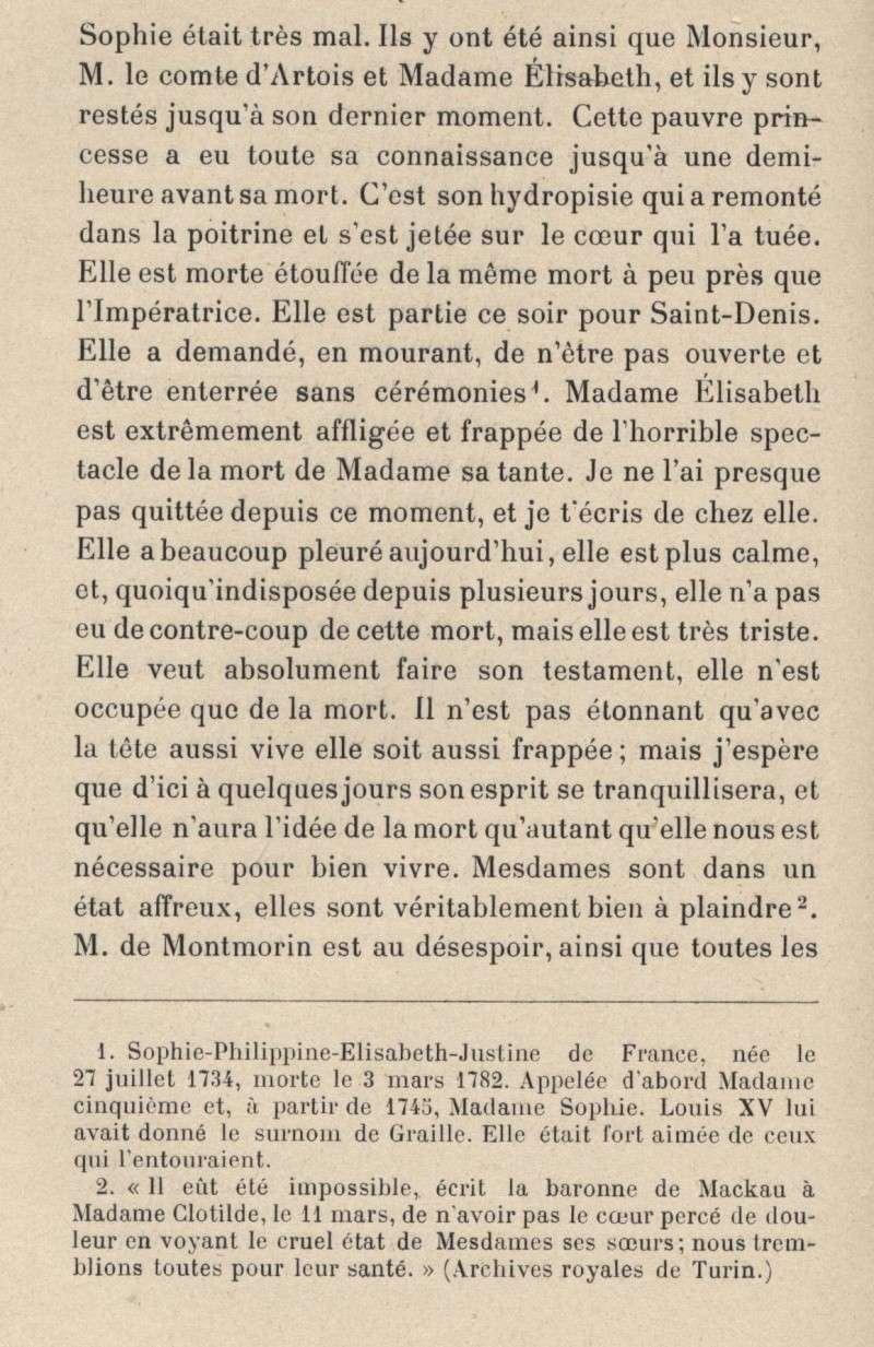 Sophie de France, dite Madame Sophie, tante de Louis XVI 2210