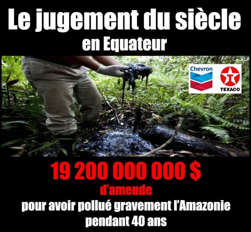 19 milliards de dollars d'amende pour avoir pollué l'amazonie Amende10
