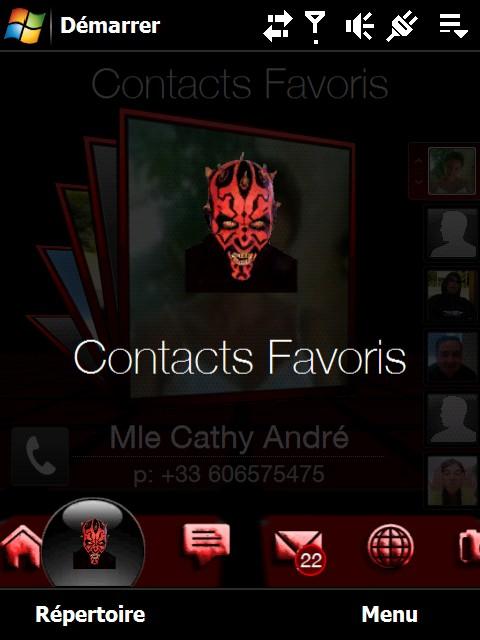 Theme Star War Coté Obscur de la Force Screen12