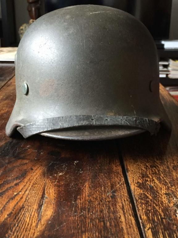 Avis et estimation casque allemand M40 fabriqué par Quist Img_5518