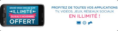 Week-end Data illimitée: 8 au 11 novembre chez Bouygues Telecom et B&YOU 14151010