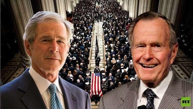 آخر ما تلفظ به جورج بوش قبل رحيله: أنا ذاهب إلى الجنة 5c083810