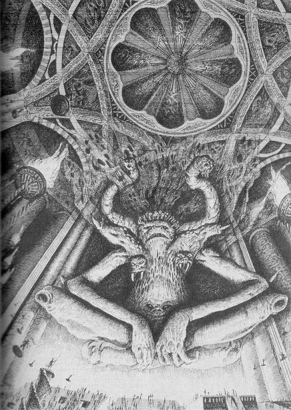 Depictions of the four gods of Chaos Godstz10