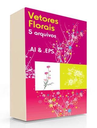 [ VETOR ] Vetores Florais - 5 arquivos - AI & EPS Vetore10