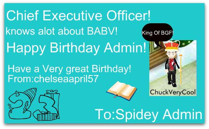 Happy Birthday Admin Admin10