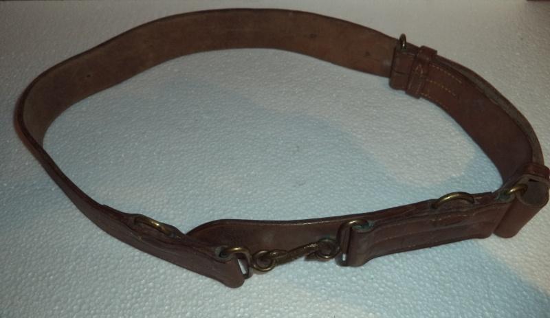 Canadian WW1 leather belt & leather shoulder holster  2013-011