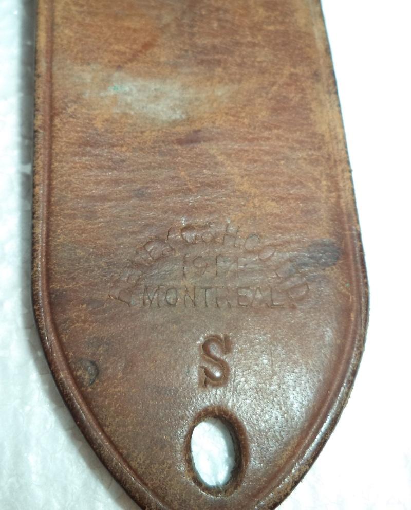 Canadian WW1 leather belt & leather shoulder holster  2013-013