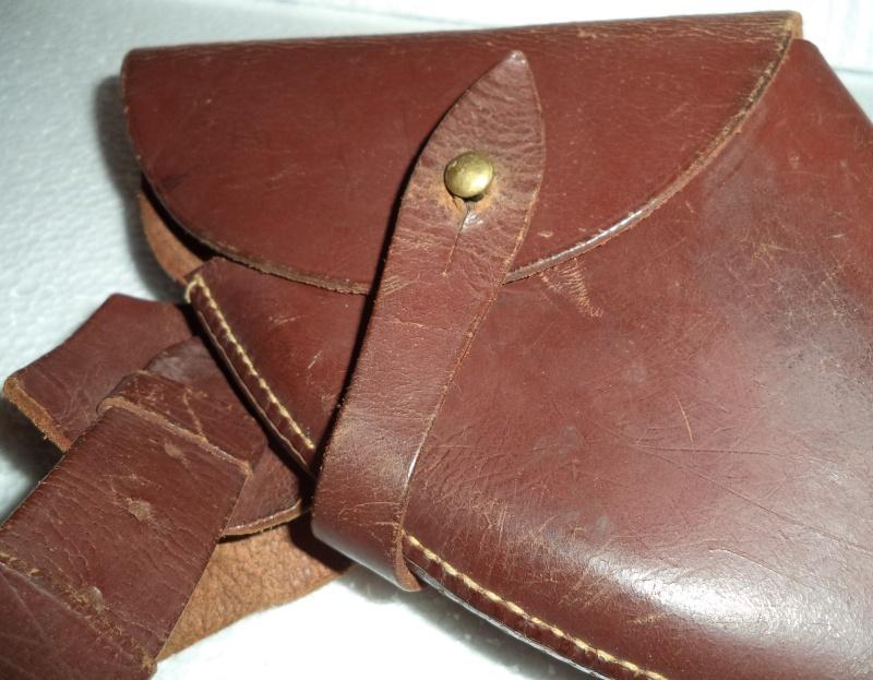 Canadian WW1 leather belt & leather shoulder holster  2013-015