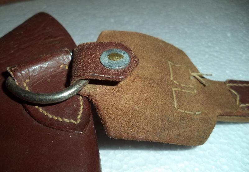 Canadian WW1 leather belt & leather shoulder holster  2013-016