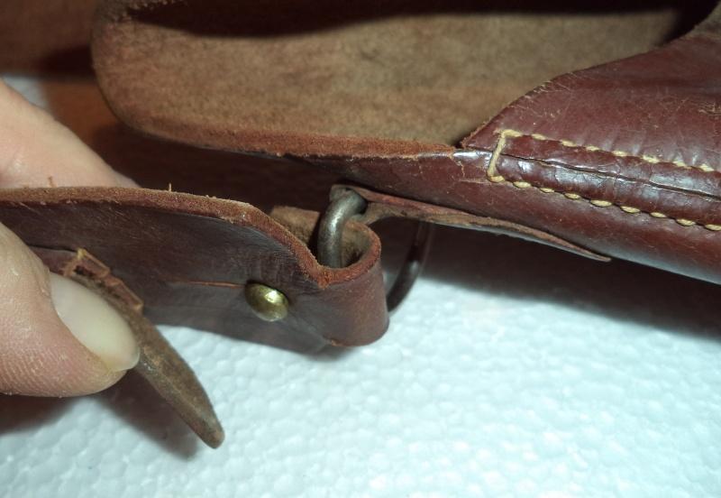 Canadian WW1 leather belt & leather shoulder holster  2013-018