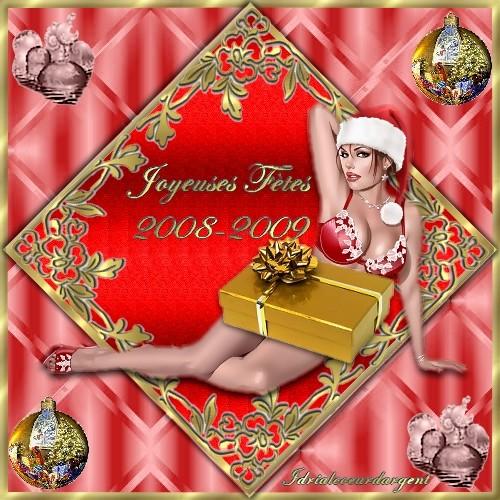défi numéro 2 de Carole(larmes)  carte de voeux Noël Dafifa10