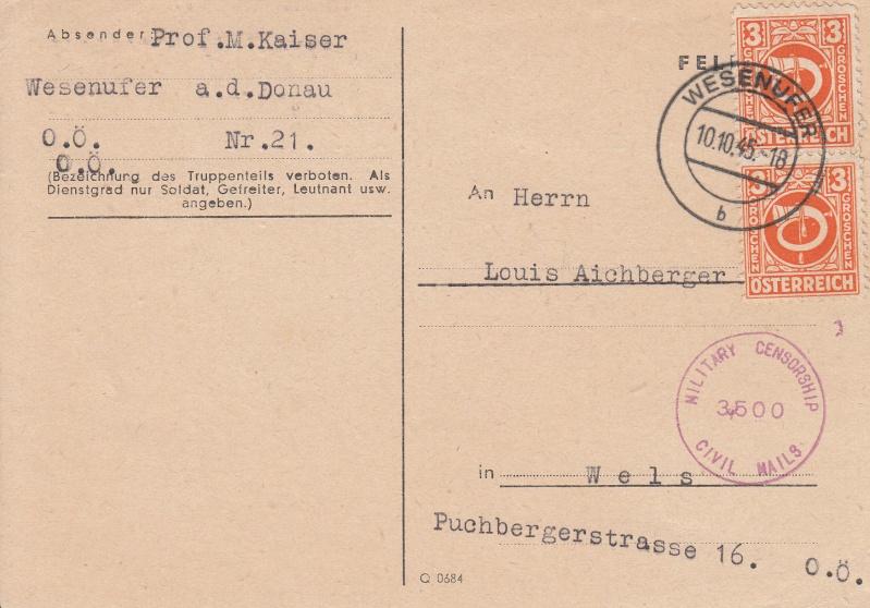 Posthornzeichnung  -  ANK 697-713  -  Belege Img14