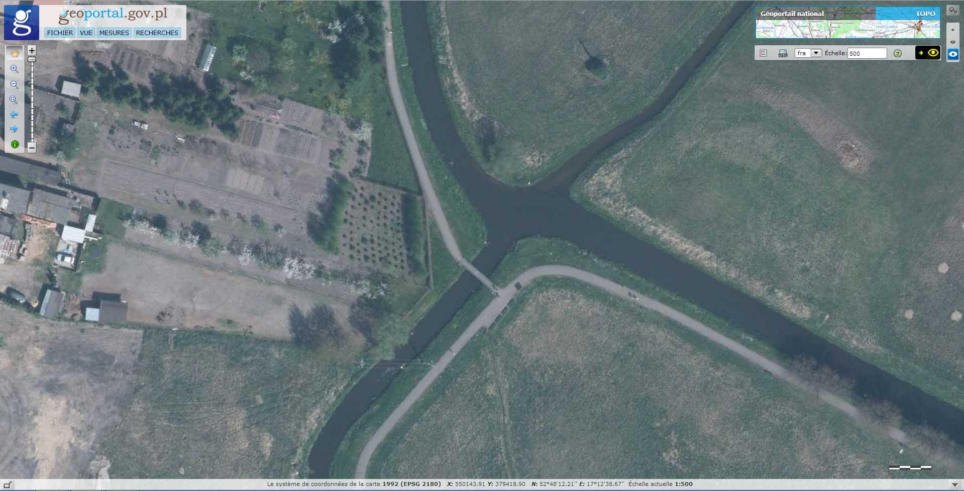 Croisement de rivières sans mélange des eaux - Wagrowiec - Pologne 2014-117