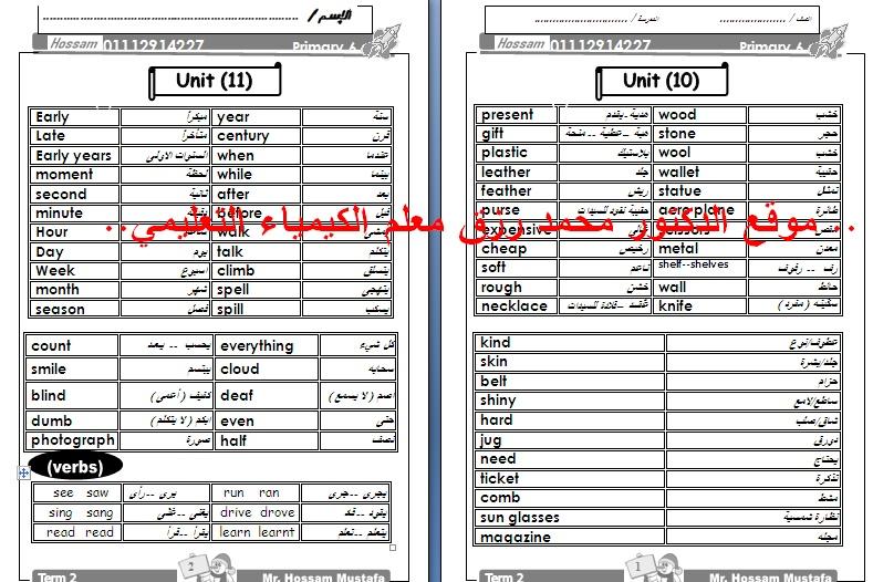 مراجعة لغة انجليزية الترمين للشهادة الابتدائية الازهرية موقع الدكتور محمد رزق Captur41