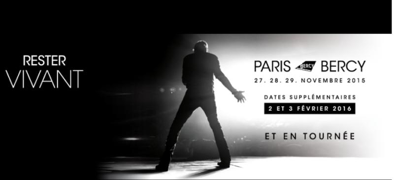 """Tournée 2015/2016 de johnny """"RESTER VIVANT """" Dates de tournée et Part 1 les festivals Captur10"""