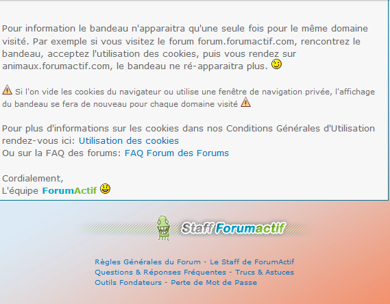 Obligations de la CNIL: Bandeau cookies sur les forums Captur15