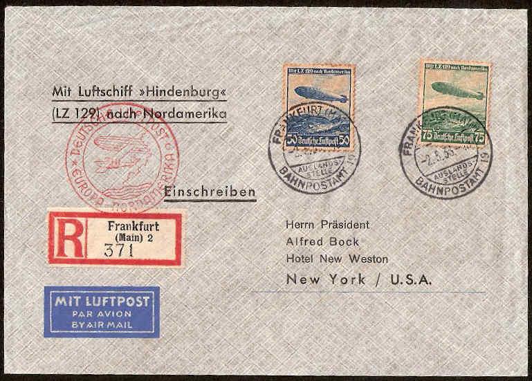 Zeppelinpost des LZ 129 310