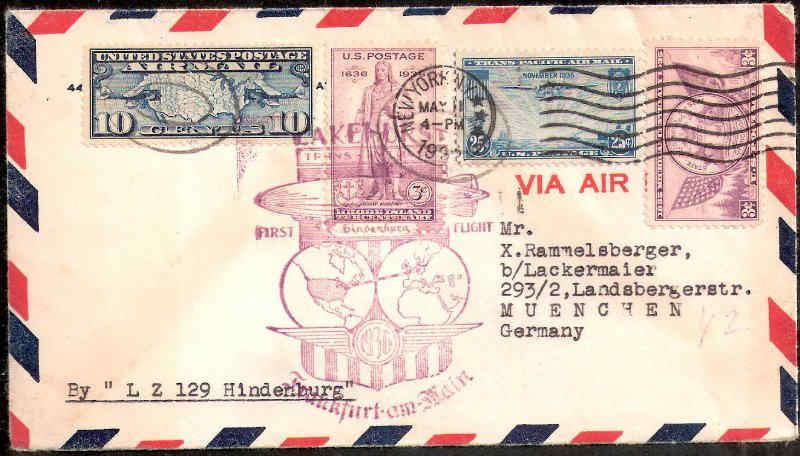 Zeppelinpost des LZ 129 311