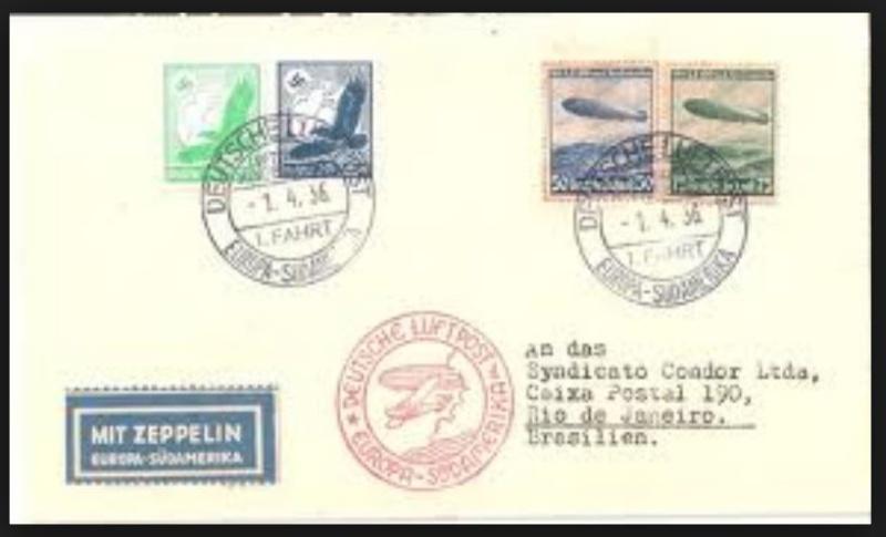Zeppelinpost des LZ 129 314