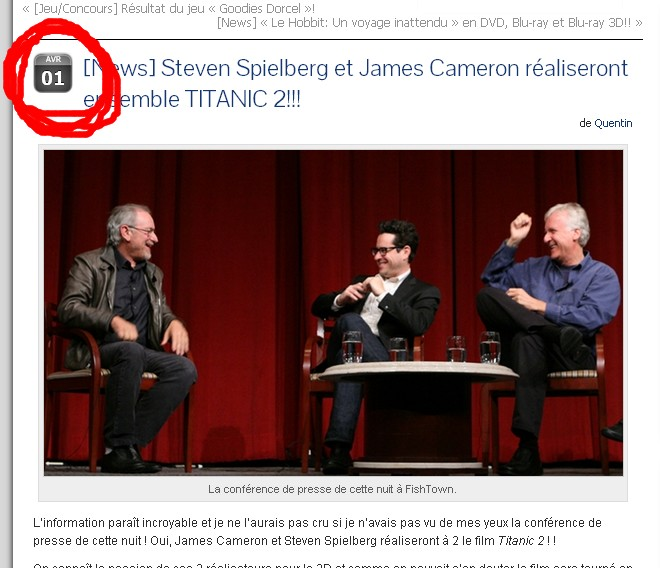 James Cameron confirme TITANIC 2 10410