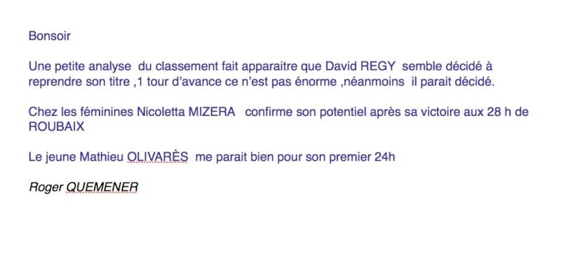 24 heures de Bourges les 23 et 24 février 2013 et les 2x6 h Analys10