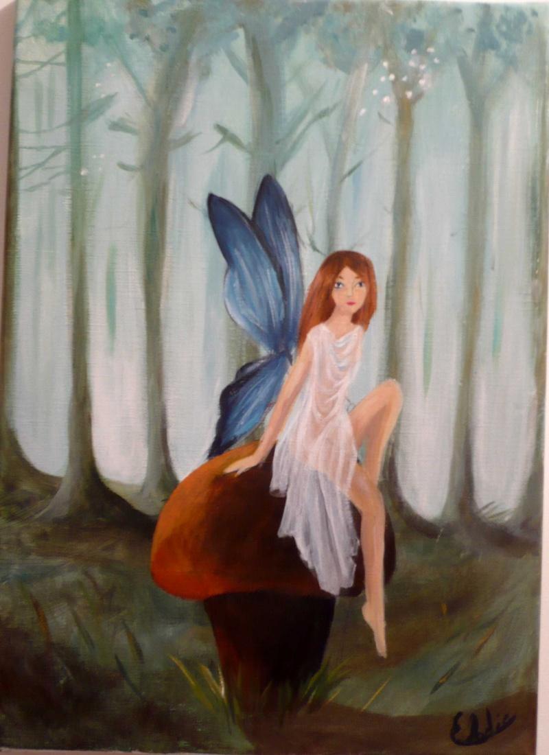 2 de mes premier tableau :fée et rayban P1050911