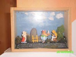 Mes Diorama Astérix sur base kinder et materiaux recuperatio 14134512